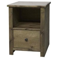 Knotty Alder 1 Drawer Wood File Cabinet - Joshua Creek