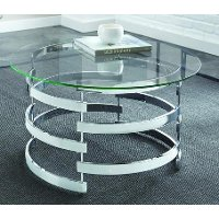 Ultra Modern Round Glass Coffee Table - Tayside