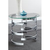 Ultra Modern Glass End Table - Tayside