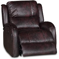 Dark Brown Power Recliner - Bobbie