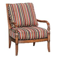 Gable Striped Accent Chair