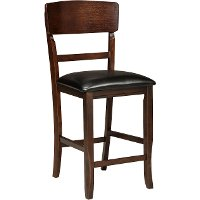 Dark Walnut 24 Inch Counter Height Stool - Hampton