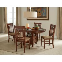 Brown 5 Piece Dining Set - Mission