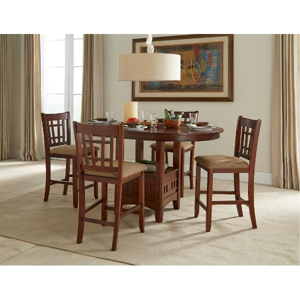 Charmant ... 5 Piece Dark Counter Height Dining Set   Mission