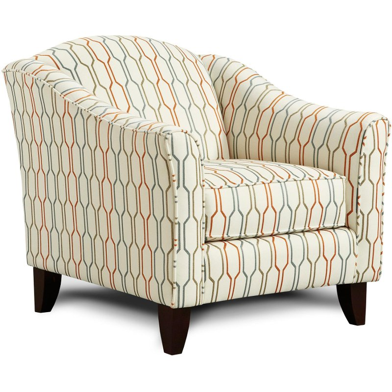 patterned living room chairs tangerine 35 quot pattern upholstered accent chair 12093