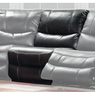 Black Armless Power Recliner - Wayne