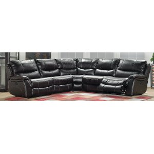 ... Black 5-Piece Reclining Sectional - Wayne  sc 1 st  RC Willey : cheers sectional - Sectionals, Sofas & Couches