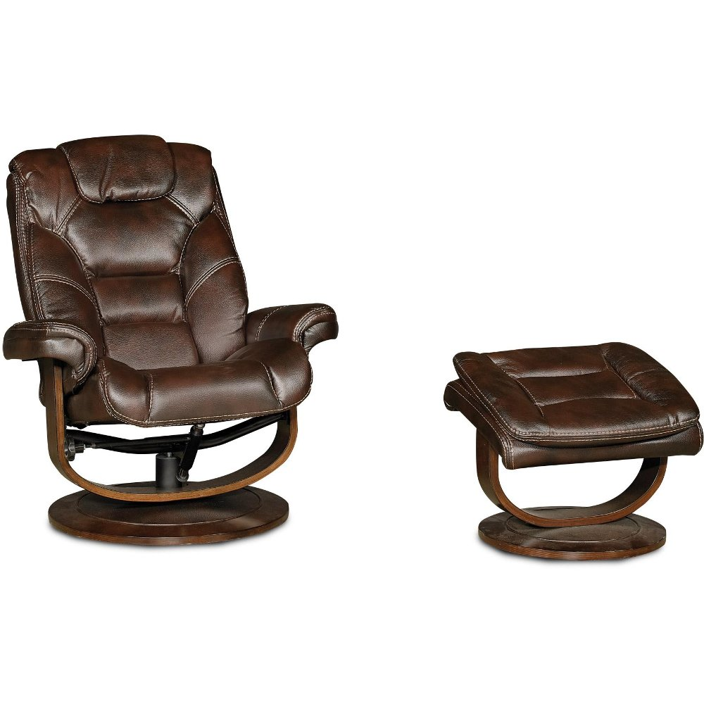 sc 1 st  RC Willey & Dark Brown Swivel Recliner u0026 Ottoman | RC Willey Furniture Store islam-shia.org