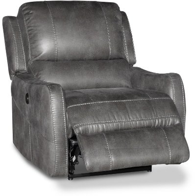 ... Gray Lay-Flat Power Recliner  sc 1 st  RC Willey & Fabric Recliners - Chairs - Living Room - RC Willey islam-shia.org