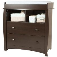 3619330 Espresso Changing Table with Removable Changing Station - Beehive