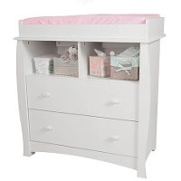 3640330 White Changing Table with Removable Changing Station - Beehive