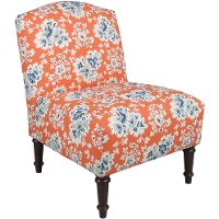 32-1ESPCCLCRL Cecilia Coral Armless Chair - Camel Back