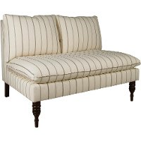 5106ESPFRTCHR Fritz Charcoal Strip Armless Loveseat