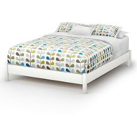 3050203 White Queen Platform Bed - Step One
