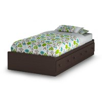 3519A1 Espresso Twin Mates Bed with 3 Drawers  (39 Inch) - Savannah
