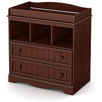 3546330 Cherry Changing Table with Drawers - Savannah