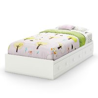 3580A1 White Twin Mates Bed with 3 Drawers (39 Inch) - Savannah