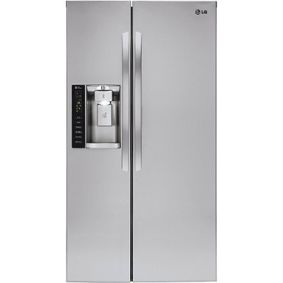 LSXS26326S LG Side-by-Side Refrigerator with LED Light Panels - 36 Inch Stainless Steel
