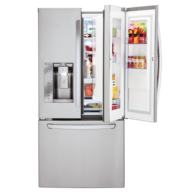 Lg French Door Refrigerator 33 Inch Stainless Steel Rc Willey