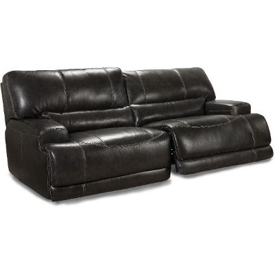 Charcoal Leather-Match Power Reclining Sofa - St&ede  sc 1 st  RC Willey & Charcoal Leather-Match Power Reclining Sofa - Stampede   RC Willey ... islam-shia.org
