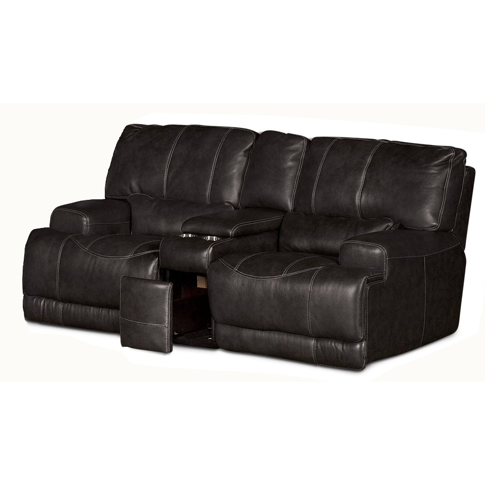 ... Charcoal Leather-Match Power Reclining Loveseat - St&ede ...  sc 1 st  RC Willey & RC Willey has reclining loveseats for your living room islam-shia.org