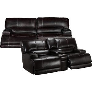 ... Blackberry Leather-Match Power Reclining Sofa u0026 Reclining Loveseat - St&ede ...  sc 1 st  RC Willey & Buy a matching group sofa from RC Willey islam-shia.org