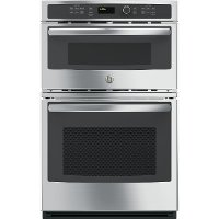 JK3800SHSS GE 27 Inch Double Wall Oven with Microwave - Stainless Steel