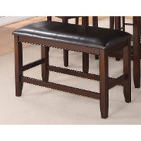 Clearance Harrison Brown 24 Inch Counter Height Bench