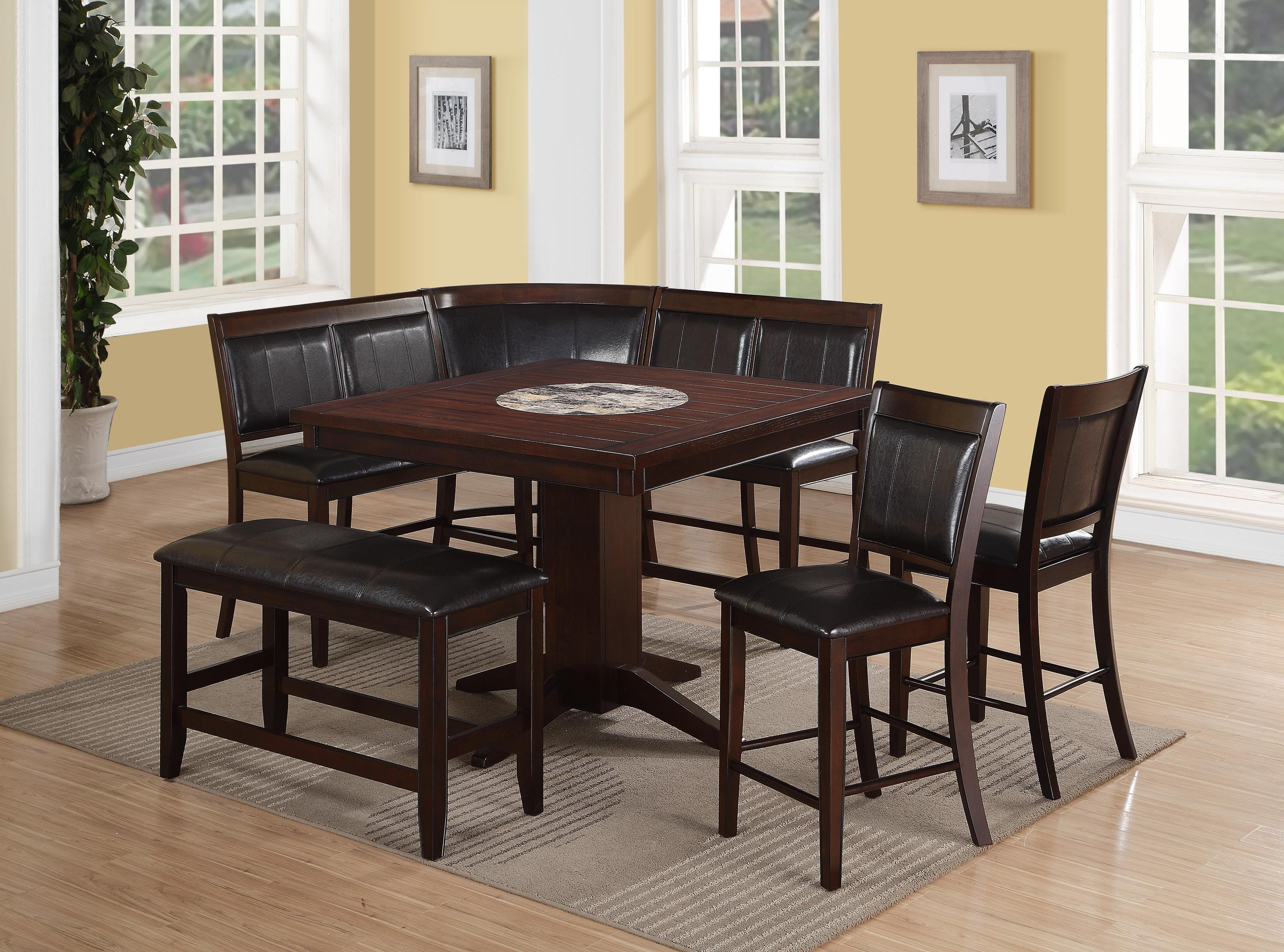 4 Piece Counter Height Dining Set   Harrison Brown