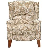 Cream & Tan High Leg Recliner - Jamie