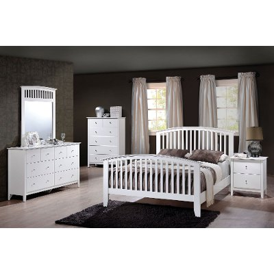 Lawson White 6 Piece Full Bedroom Set RC Willey Furniture Store