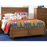 Diego Dune Pine Casual Contemporary Queen Bed