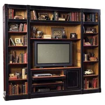 ... Black And Light Cherry 3 Piece Entertainment Center   French Accents