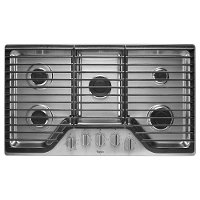 WCG51US6DS Whirlpool 36 Inch Gas Cooktop with 5 Burners - Stainless Steel