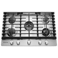 KCGS950ESS KitchenAid Gas Cooktop with Removable Griddle - 30 Inch Stainless Steel