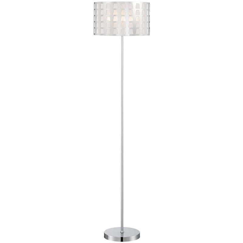 lite source marciano chrome floor lamp rc willey