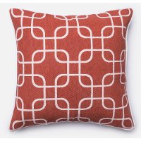 Ivory and Rust 22 Inch Throw Pillow