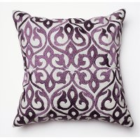 Gray and Plum 18 Inch Throw Pillow