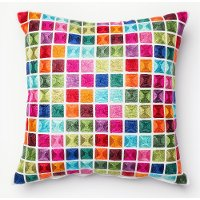 Multi Colored Cubes Throw Pillow