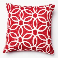 Red and White 18 Inch Throw Pillow
