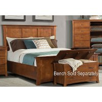 Pecan Casual Classic King Panel Bed - Grant Park
