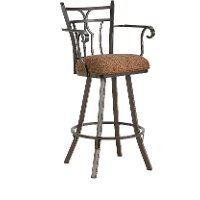 Randle 26 Inch Swivel Counter Stool with Arms