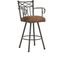Metal 30 Inch Bar Stool with Arms - Alexander
