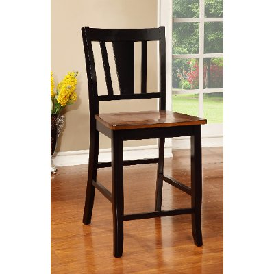 Black & Cherry Counter Height Stool - Dover