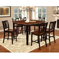 Black and Cherry 5 Piece Counter Height Dining Set - Dover