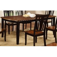 Black And Cherry Dining Table Dover Collection Rc