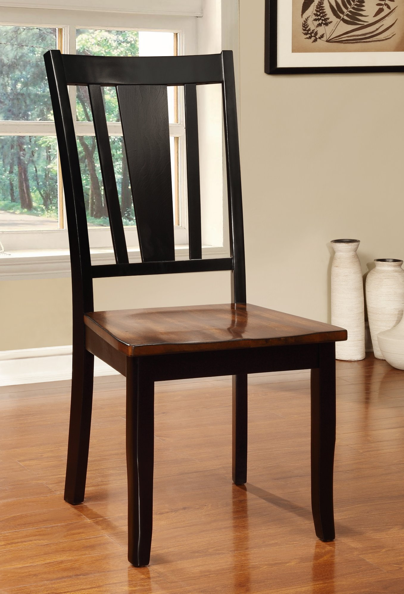 Black cherry 5 piece dining set dover rc willey for Cherry dining room chairs