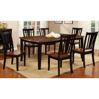 Black cherry 5 piece dining set dover rc willey for Dining room table 40 x 60