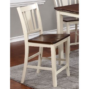 ... White And Cherry 24 Inch Counter Height Bar Stool   Dover