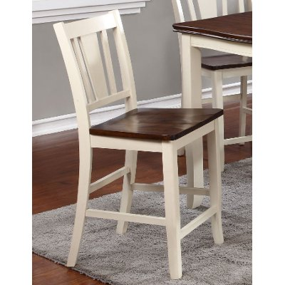 White and Cherry 24 Inch Counter Height Stool - Dover